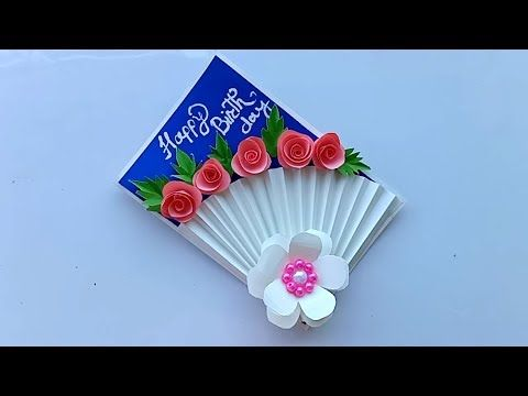 Beautiful Handmade Birthday Card Birthday Card Idea Youtube Handmade Birthday Cards Card Making Birthday Greeting Cards Handmade