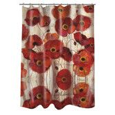 Found it at Wayfair - Bold Poppies Shower Curtain