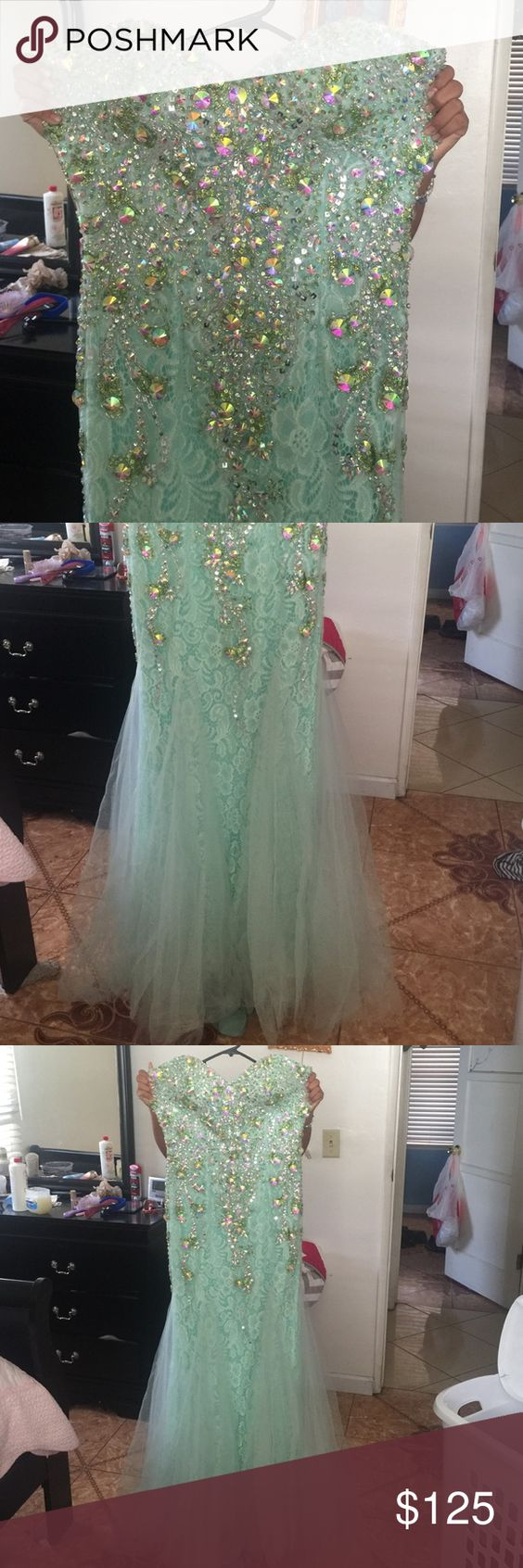 Mint green prom dress Worn once Cinderella divine Dresses Prom