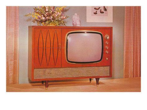 vintage console TV