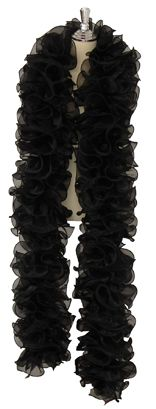 A single color organza ruffle boa. Choose any color of organza and we will add hanging 20mm sequins to match. Available to buy online at http://www.sequinqueen.com/product.php?productid=758=96=1
