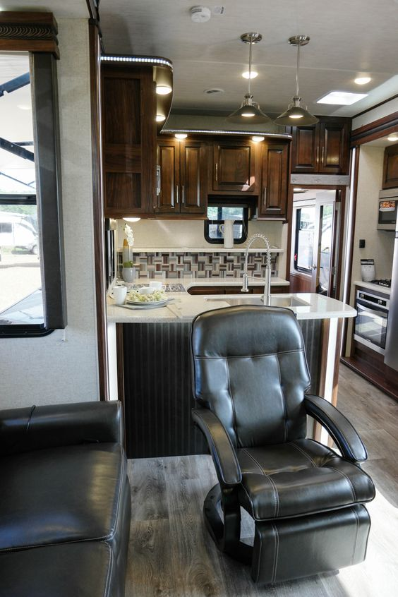 Cyclone 4005 Toy Hauler Fifth Wheel Residential Furniture Rv Interior Perfect Tv