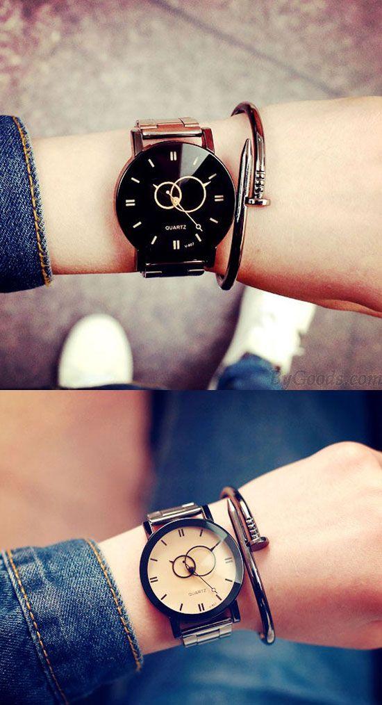Harajuku Reloj De Pulsera De Acero Simple Reloj De Cuarzo De Estudiante Only 19 99 Bygoods Com Reloj De Pulsera Reloj De Cuarzo Relojes De Lujo De Mujer