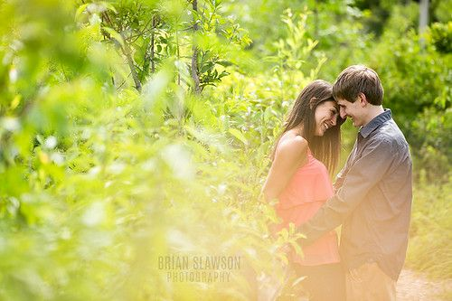 Photo by Brian Slawson Photography. Outdoor engagement shoot. Whitnall Park, Milwaukee, WI. #outdoor #natural #green