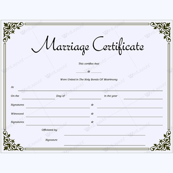 Printable Marriage Certificate Template #marriage #certificate   Anniversary  Certificate Template  Anniversary Certificate Template