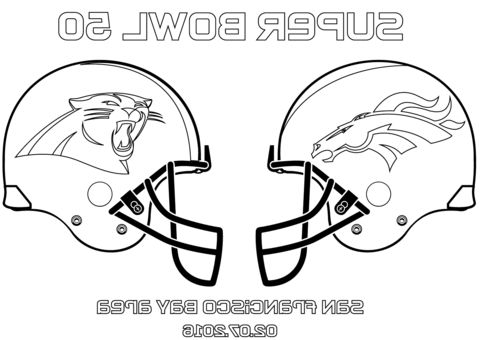 Super Bowl 50 Coloring Page Football Coloring Pages Super Bowl Denver Broncos Colors