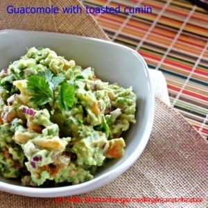 A take on classic guacamole with a little cumin and garlic.