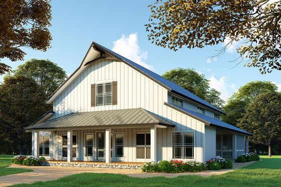 Country Style House Plan 3 Beds 3 5 Baths 4072 Sq Ft Plan 923 97 Barn Style House Plans Barn Style House Country Style House Plans