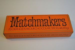 VINTAGE MATCHMAKERS ROWNTREE MACKINTOSH BOX.  They were the width of the box, not like the longer ones you get now.