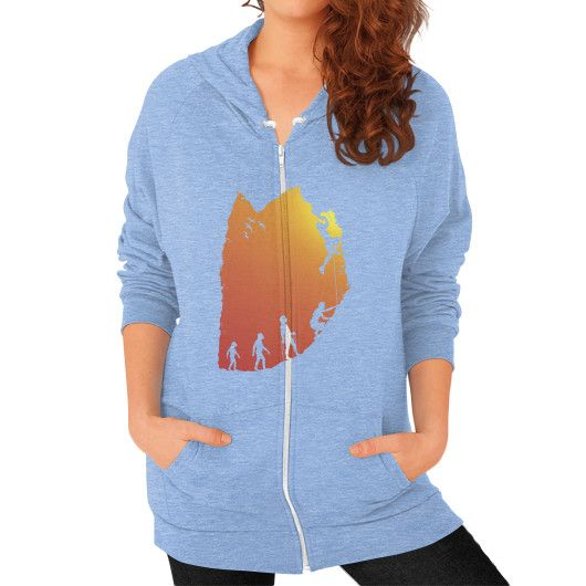 Climb Evolution Zip Hoodie (on woman)