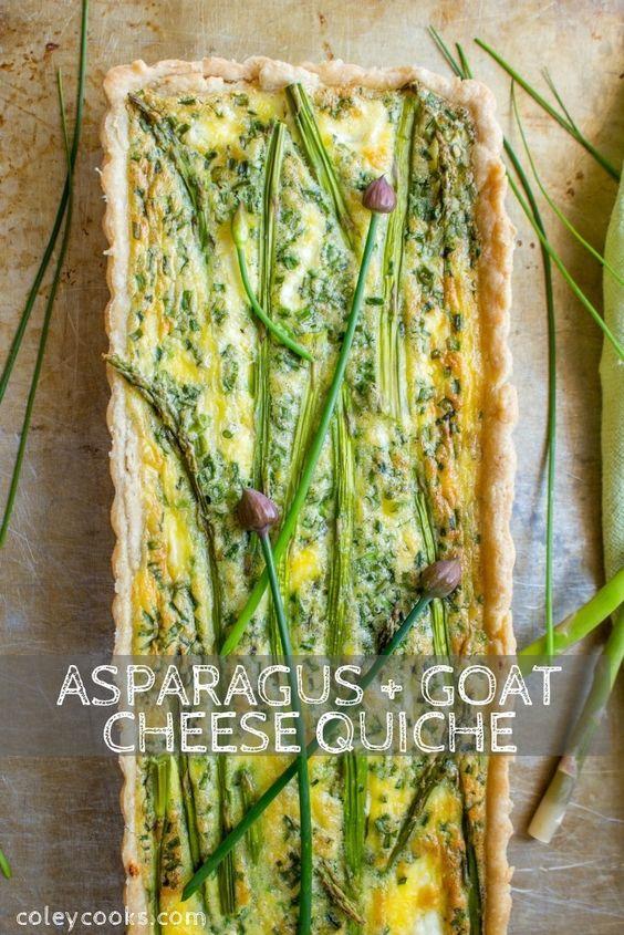 Asparagus + Goat Cheese Quiche