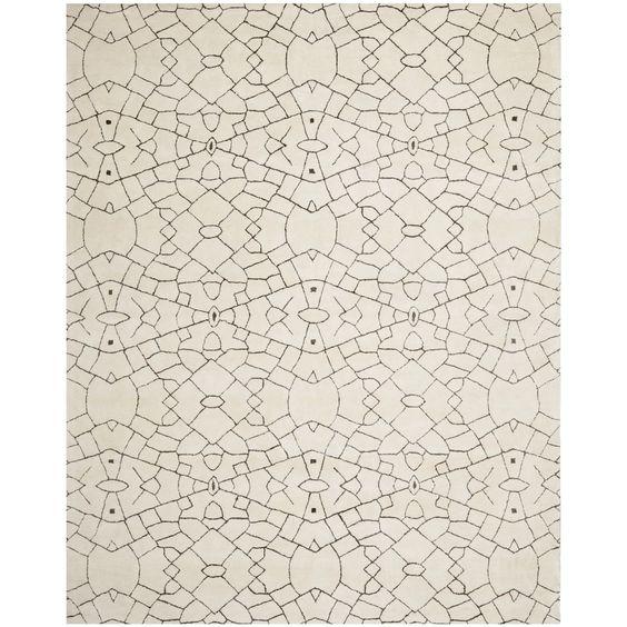 Thom Filicia Handmade Cream/ Brown New Zealand Wool Rug (5' x 8') | Overstock.com Shopping - Great Deals on Safavieh 5x8 - 6x9 Rugs
