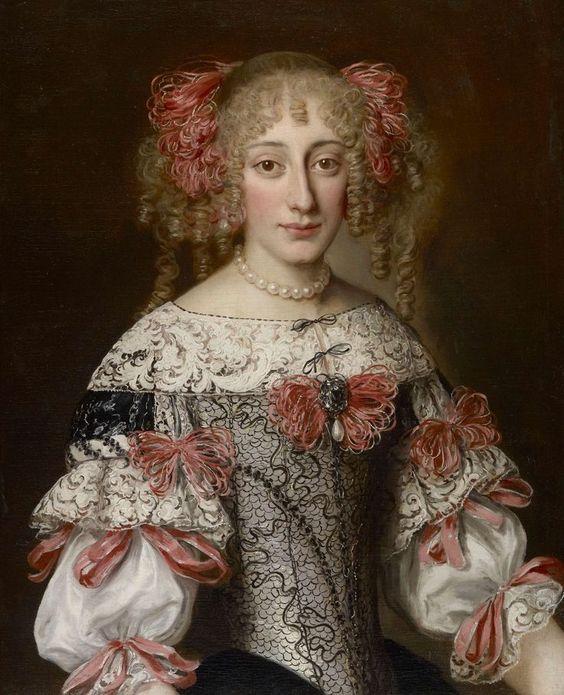 Portrait of an unknown noblewoman by Jacob Ferdinand Voet, 1670s