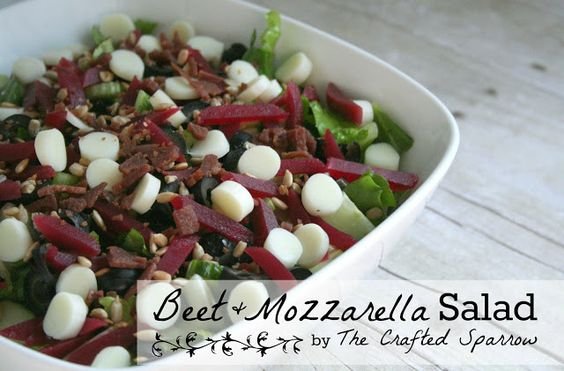 Beet and Mozzarella Salad for Easter Dinner