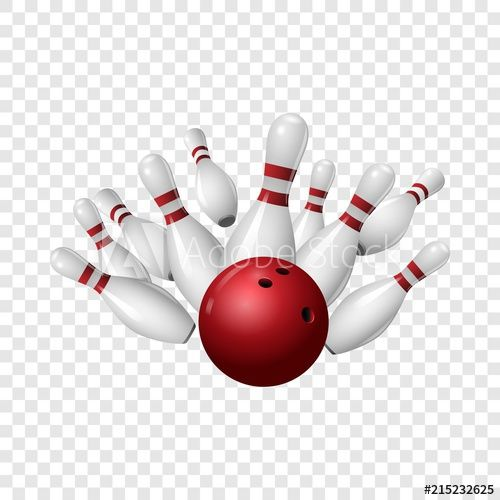 Bowling Strike Icon Realistic Illustration Of Bowling Strike Vector Icon For On Transparent B In 2020 Vector Icons Transparent Background Social Media Design Graphics