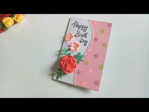 Beautiful Handmade Birthday Card Idea Diy Greeting Cards For