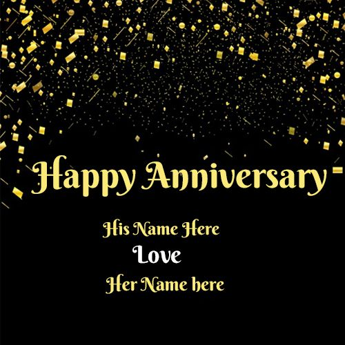 Happy Anniversary Wishes Card With Your Couple Name Free Images
