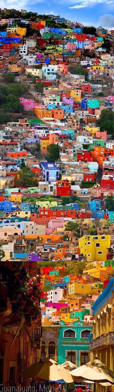 Allí son muchos los edificios. Son de Guanajuato, Mexico. Los edificios tengo…