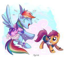 Rainbow Dash and Scootaloo for Kallisti III by Adlynh