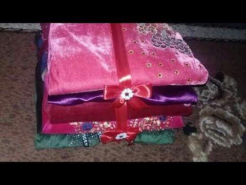 قنادري تاع خياطة لي مخبيتهم فالجهاز و طريقة اخرى لتزين قنادر العروسة Youtube Gift Wrapping Gifts Wrap