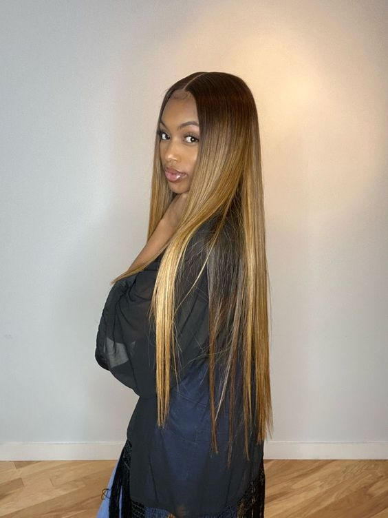 Fantasy Colored Straight Hair For Black Girl Hair Styles Wig Hairstyles Straight Hairstyles