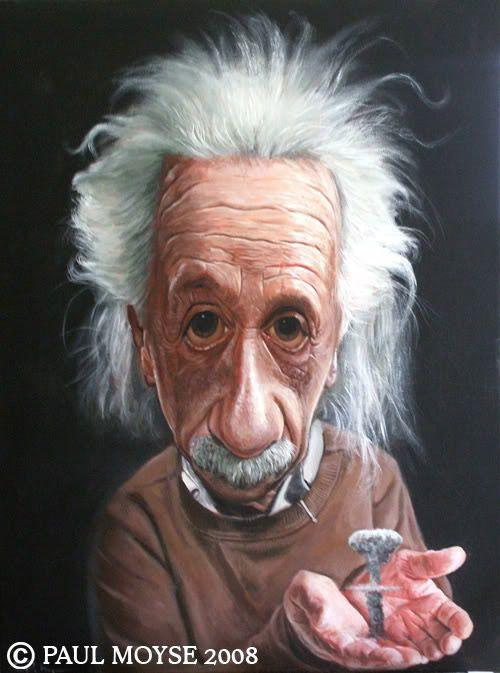 Caricatura de Albert Einstein