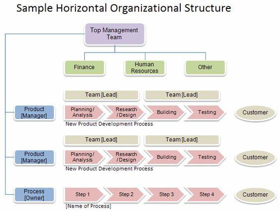 Sample Horizontal Organizational Structure  Org Charts