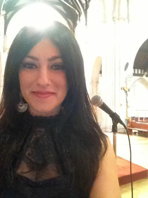 Singing at a church wedding ceremony. Melbourne Facebook Page: Laura Rose Songbird Entertainment