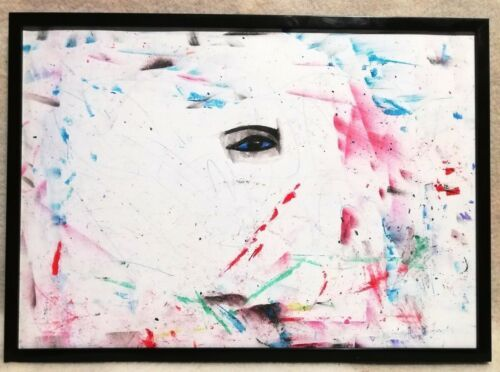 gemalde auge mensch abstrakt moderne kunst 29 7x21cm papier dekoration ebay art artwork aesthetic painting acrylmalerei modern pinakothek der modernen