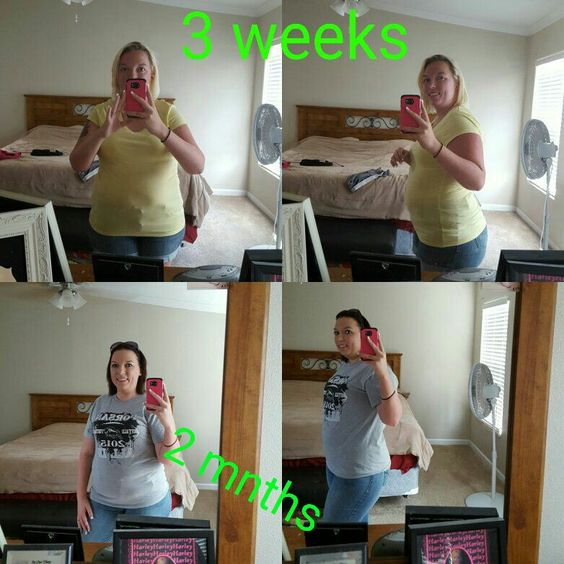 now this is my 3 week photo and 2 mnths total on triple threat ( which is 4 after the 3 week photo ) !!!!  I can't wait to see what another month will do ! Down 19 pounds in 2 mnths!!! Who wants to do the triple threat with me !