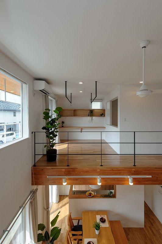 小布施町の注文住宅写真集 開放感のあるホワイトモダンの家 インテリアアイデア 家 住宅