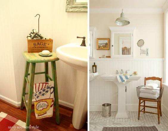 Pedestal sink - Idéias para banheiros com pia de coluna