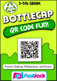The Green Classroom: QR Codes and Bottle Cap Fun! for math - genius!