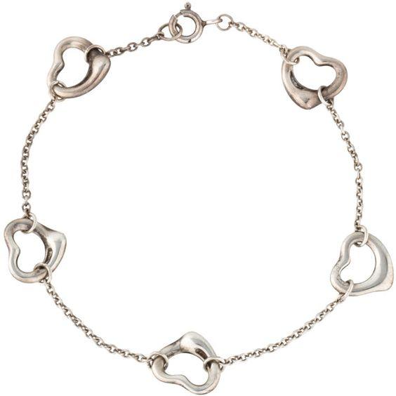 Tiffany & Co. Open Heart Bracelet (¥27,675) ❤ liked on Polyvore featuring jewelry, bracelets, open heart jewelry, sterling silver jewellery, tiffany co jewellery, sterling silver bangles and tiffany co jewelry