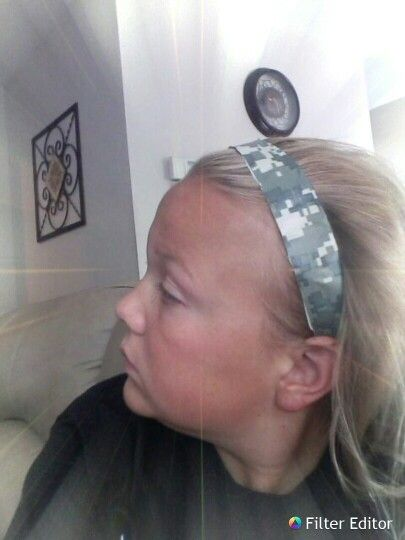 A headband made out of duct tape !