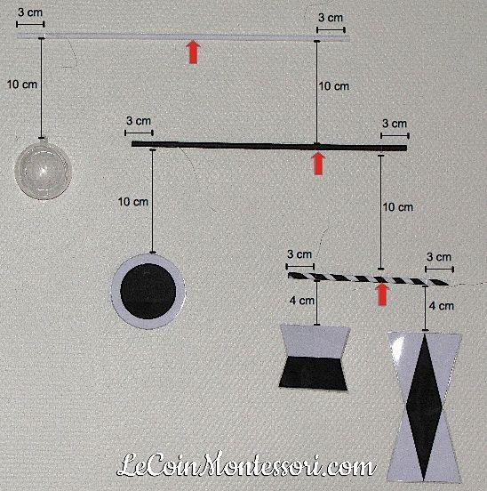 Mobile de Munari (pédagogie Montessori) - instructions de montage