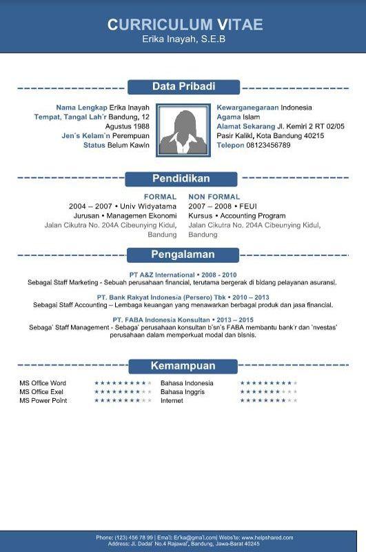 Download Template Curriculum Vitae Cv Gratis Siap Pakai Isisurat Com Curriculum Vitae Curriculum Templates