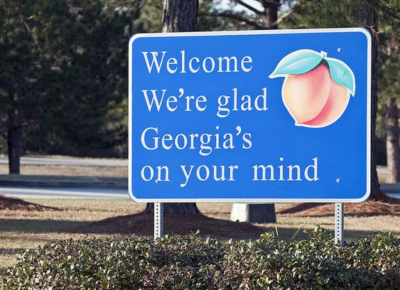 Georgia is always on my mind! Love seeing this sign after being gone!