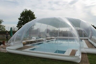 Inflatable Hot Tub Swimming Pool Solar Dome Cover Tent W Blower Pump Ebay Solar Pool Solar Blanket For Pool Swimming Pools
