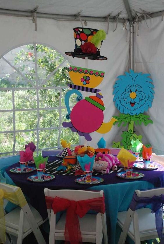Alice in wonderland mad hatter birthday party ideas for Alice in wonderland birthday decoration ideas