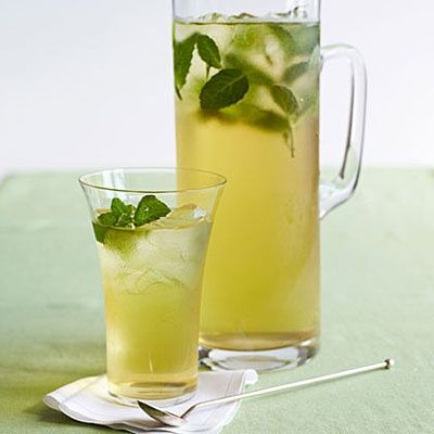 Iced green tea will help boost your metabolism and wont make you bloat like soda.
