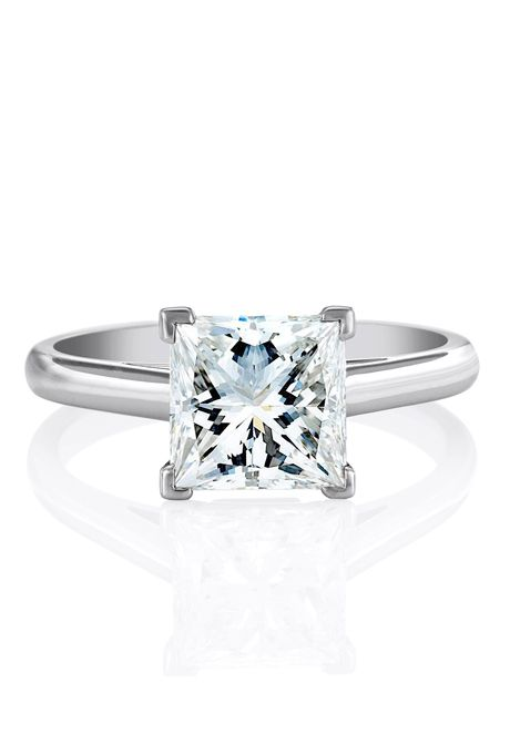 platinum ring princess cut and de beers on