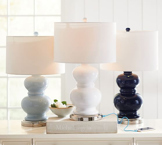 Alexis Table Lamp Base With Usb Port Room Lamp Table Lamp Wood