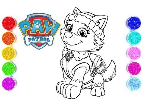 Paw Patrol 2020 Coloring Pages Paw Patrol Everest Paw Patrol Coloring Book Vianna Kids Show Youtube Paw Patrol Coloring Everest Paw Patrol Paw Patrol