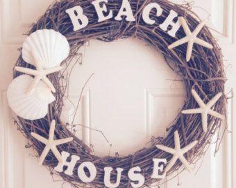Angel Fish Beach Wreath by CarmelasCreations on Etsy