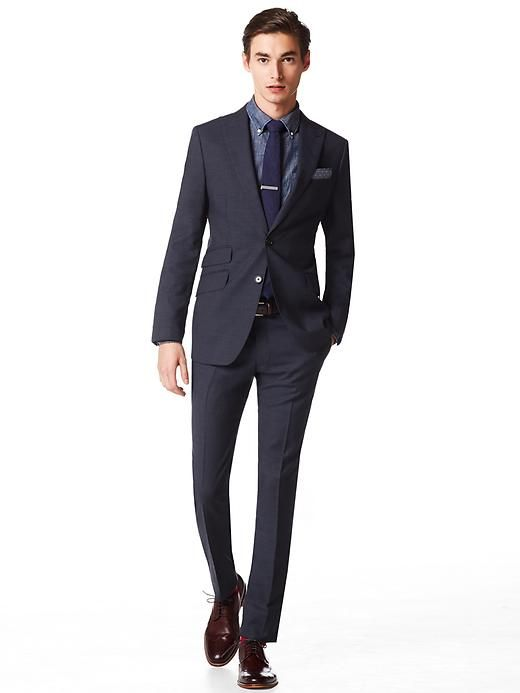 Modern Slim-Fit Navy Wool Suit // Banana Republic | My Style