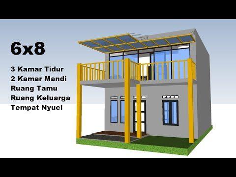 desain rumah 6x8 meter - desain rumah