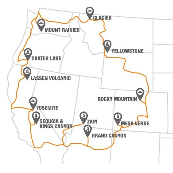 The National Park To Park Highway In The United States