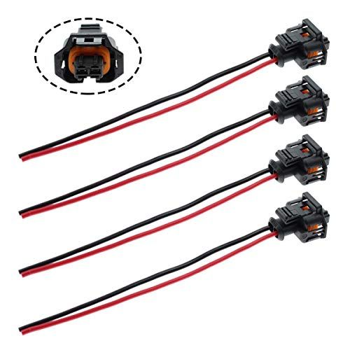 Motoall 4pcs Fuel Injector Plug Connector Wire Harness Wiring Pigtail For Duramax Lly Lbz Llm 6 6l Diesel Injector Control Valve Gm Vauxhall Duramax Chevrolet