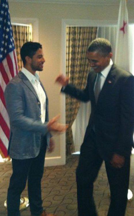 Adam Rodriguez, Barack Obama